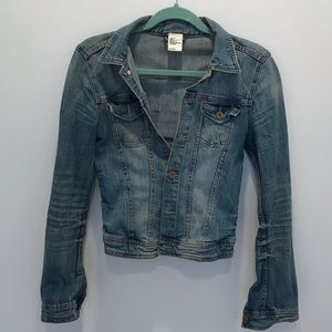 H&M Cropped Denim Jacket size 6